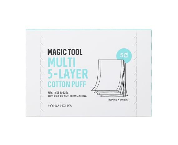 Многослойные хлопковые салфетки Magic Tool Multi (5-Layer) Cotton Pads 80 шт