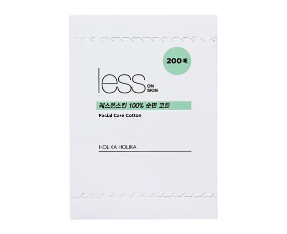 Многослойные хлопковые салфетки Less On Skin Facial Care Cotton 200 шт