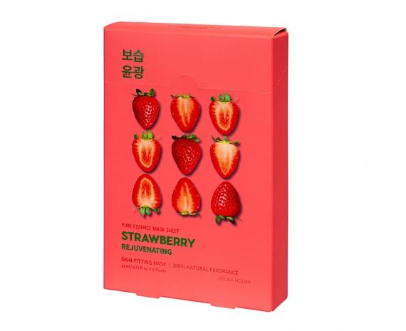 Комплект тканевых масок Pure Essence Mask Sheet - Strawberry (5 шт)
