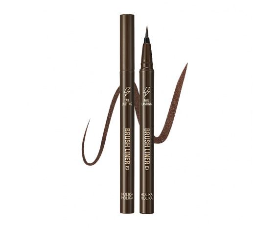Стойкая подводка-кисть Tail Lasting Brush Liner 02 Dark Brown